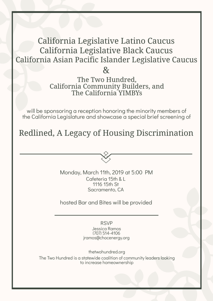 Reception Honoring the Minority Members of the California